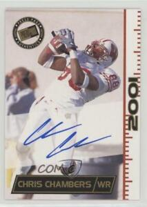 2001 Press Pass Autographs #CHCH Chris Chambers Wisconsin Badgers Auto Card
