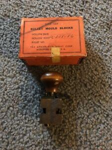 Rare Ideal Lyman single cavity HOLLOW POINT bullet mold casting 358156 NR