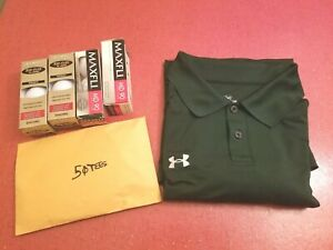 Under Armour Classic Green Under Armour XL Polo Golf Shirt Package $44.99