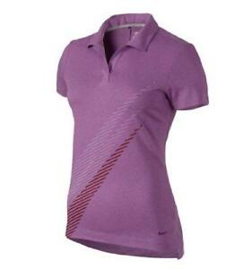 Nike Women's Dri-Fit Sports Swoosh Golf Polo Shirt Lilac
