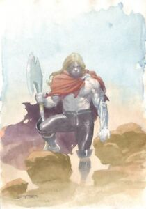 Thor Unworthy Design Art and Variant Cover - LA - Signed art by Esad Ribic