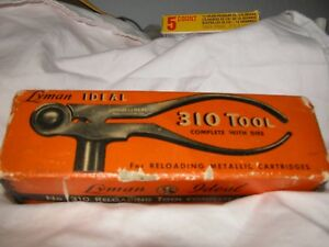 Vintage Lyman Ideal 310 Reloading Tool 35 W.C.F Dies 35 WCF Made in USA