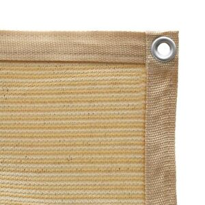 Shatex 90% Sun Shade Cloth with Grommets for Pergola Cover Canopy Wheat