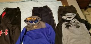 Under Armour Nike Adidas --  3 Boys Large Hoodies and 3 Large Boys Pants