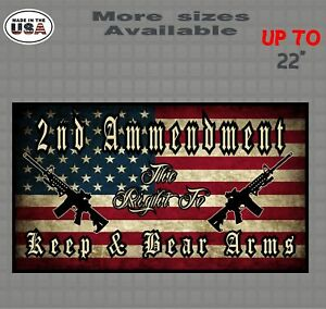 Second Amendment Rights American Flag Vinyl Decal Sticker Gun Control Stickers