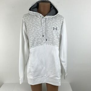 Under Armour Men's Size XL  Hoodie Coldgear White Gray Loose Fit NWT