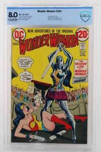 Wonder Woman #204 - CBCS 8.0 VF -DC 1973- 1st App of Nubia - Death of I-Ching!!!