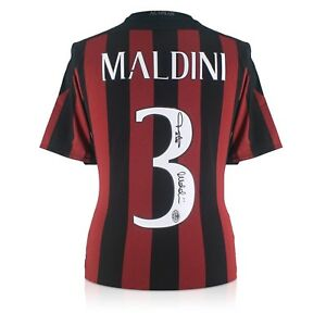 Paolo Maldini Signed 2015-16 AC Milan Adidas Home Shirt  Autographed Jersey