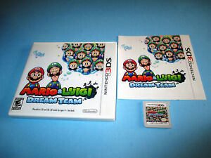 Mario & Luigi Dream Team (Nintendo 3DS) XL 2DS Game wCase & Manual