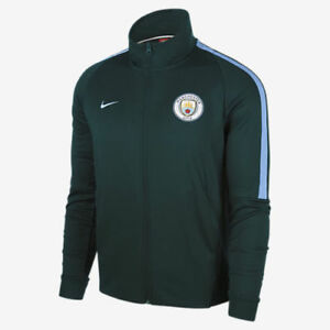 Men Nike Manchester City FC Authentic N98 Track Jacket 883457 336 SIZE M Green