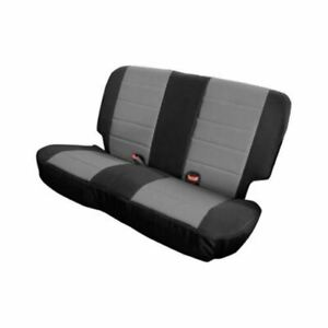 Smittybilt 758211 - XRC Rear Seat Cover with Black Sides  Gray Center