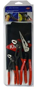Knipex 9K0080123US 3 Pc Cobra Pliers And Angled Long Nose Set