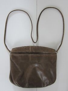 Vintage Modell Gold Pfeil Germany Brown Leather Satchel Crossbody Purse