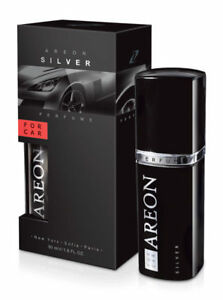 Areon Luxury Car Perfume Long Lasting Air Freshener TOP QUALITY SILVER 50ml NEW