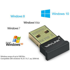 Wavlink USB Bluetooth 4.0 Adapter Dongle For PC Laptop Win XP Vista7 810