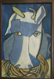 PICASSO 1945 Art Deco HORSE Painting Gifted to CPL Frank Spaulding US ARMY CORPS