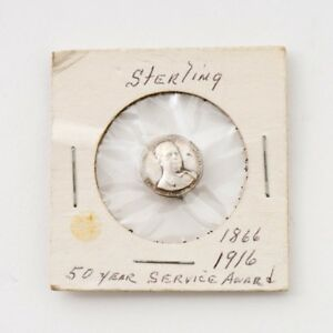 Antique 1866-1916 Winchester Sterling Silver 50 Years Service Employee Award Pin