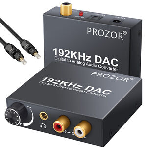 192kHz Digital Optical Coaxial Toslink to Analog RCA LR 3.5mm Audio Converter