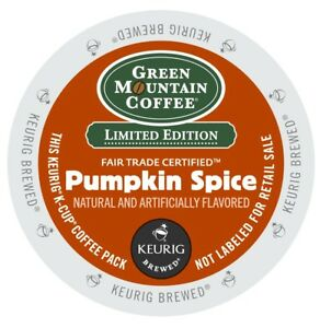 Green Mountain Pumpkin Spice Coffee 24 to 144 K cups Pick Any Size FREE SHIPPING