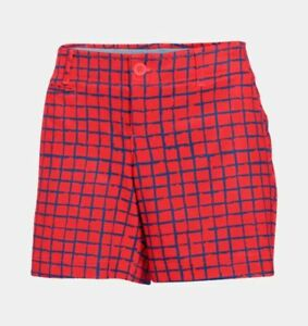 UNDER ARMOUR Women's Heat Gear UA Links Printed Golf Shorts NWT Size: 10