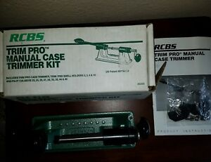 RCBS Trim Pro Manual Case Trimmer Kit (90355) NOS Pilot Calibers Shell Holders