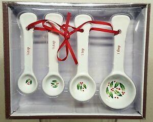 Farberware Classic Series Holiday Themed Ceramic 4 Pc Measuring Spoon Set A120