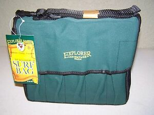 Explorer Surf Fisherman Saltwater PlugLure Tackle Bag 10 Compartment Durahide