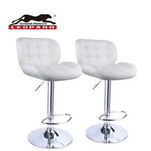 Leopard Deluxe adjustable bar stools With Back Swivel Bar Stools set of 2