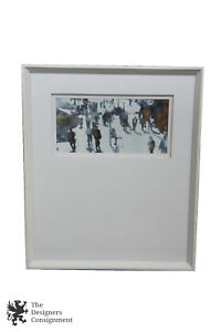 Thom Filicia Urban Haze 3 Modern Art Print Lithograph Abstract Figures Framed $127.49