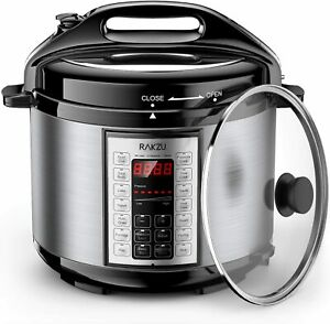 9 in 1 Multi Steamer LED Touch Control Rice Cooker with Steam & Rinse Basket US