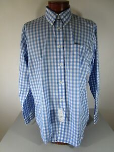 Brooks Brothers Regent Fit Blue Gingham Check Button Down Sport Shirt XL NWT $92
