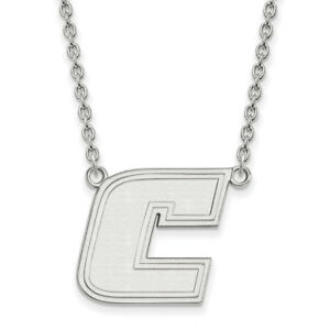 LogoArt 10k White Gold The University of Tennessee at Chattanooga Lg Pend wNeck
