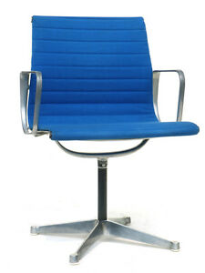 CHARLES RAY EAMES EA 108 aluminum chair Herman Miller ICF 50s 60s design leather