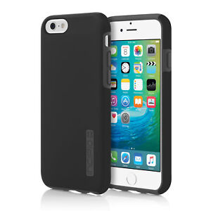 NEW Incipio DualPro Hard Shell Case Dual Layer BlackGray Cover for iPhone 6S 6
