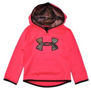 Under Armour Toddler Girls Penta Pink Pull-Over Hoodie Size 4T $49.99
