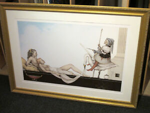 MICHAEL PARKES quot;Court Painterquot; Stone Lithograph Framed Signed Numbered COA $1800.00