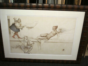 MICHAEL PARKES quot;The Sculptorquot; Stone Lithograph Framed Signed Numbered COA $1900.00
