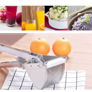 Stainless Steel Garlic Squeezer Press Crusher Cheese Grater Lemon Press