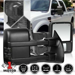 Pair PowerHeated LED Signal Towing Side Mirror for 99 07 Ford F250 Super Duty $138.89