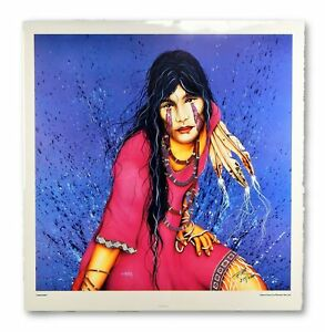 Henri Peter Signed Numbered Lonesome Native American Poster Print 314 2000 $175.00