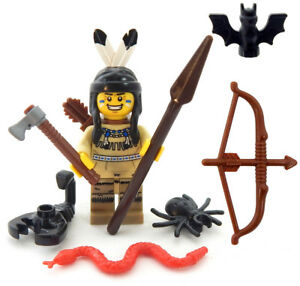 NEW LEGO NATIVE AMERICAN MINIFIG indian minifigure tribal figure tribe warrior