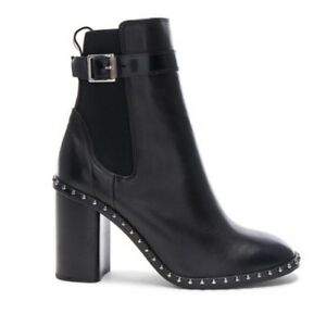 Rag & Bone NIB Romi Studded Black Leather Ankle Boot Size 8 $595 New with Box