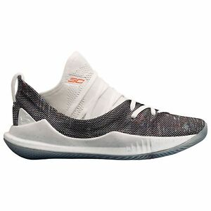 Under Armour Curry 5 Boys' Grade School WhiteWhiteNeon Coral 0741-107
