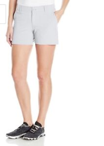 Under Armour Women Links Shorts 4in Golf Shorts Size Uk 6 Us 2 White
