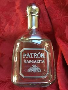 NEW FLAWLESS Exquisite PATRON MARGARITA Glass & Chrome Metal COCKTAIL SHaKeR