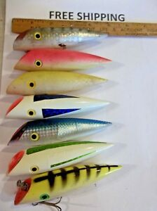 LOT OF 7 NICE Luhr Jensen J-Plug Salmon Trolling Plug Fishing lure 4 34