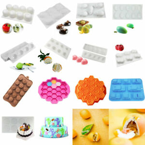 3D Silicone Mousse Cake Decorating Moulds Candy Cookies Chocolate Baking Molds