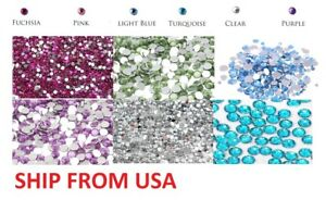 1800 Pcs Crystal Flat Back Acrylic Rhinestones Gems 4MM / 5MM Multicolor