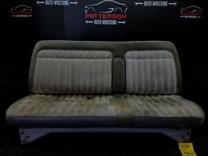 1991 CHEVY PICKUP 1500 Front Bench Seat w Middle Arm Rest Cloth Trim Code 13D