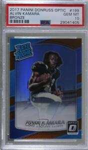 2017 Donruss Optic Bronze #199 Rated Rookies Alvin Kamara PSA 10 GEM MT Card